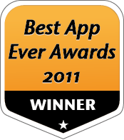 Winner Best App Ever Award 2011